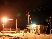 Въезд в СНТ Лотос зимой