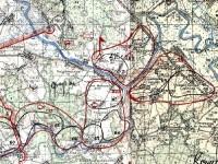 Карта позиций советских войск в районе деревни Титово