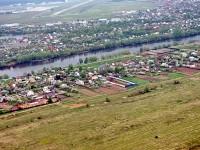 Деревня Титово и на заднем плане Аэродором Мячково