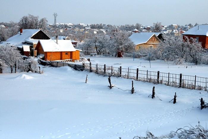 Титово зима снег участки