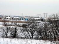 Вид на закрытую молочную ферму в Нижнем Мячково