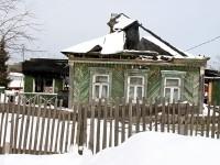 Сгорел деревянный дом