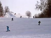 На склоне горнолыжного центра Боровской Курган