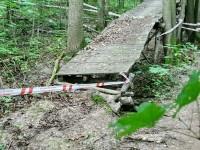 Старый велопешеходный мост на кургане