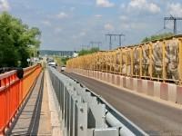 Одна полоса для разъезда - идет ремонт моста