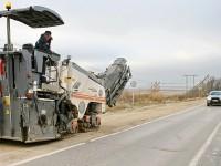 Володарское шоссе - ремонтные работы у моста через Пахру