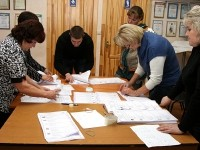 Подсчет бюллетеней по партиям области