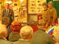 Зам. главы г. Лыткарино Уткин Антон Юрьевич во время церемонии передачи останков в г. Коломна