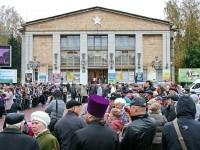 Впомнить Ивана Грошкова и всех солдат войны на центральной площади Лыткарино собрались школьники, студенты, жители Лыткарино, Коломны, деревни Титово