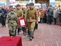 Прибытие Ивана Грошкова на центральную площадь Лыткарино