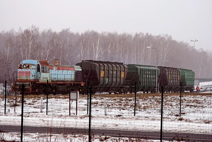 Поезд на железнодорожной ветке между Какузево и Жуково
