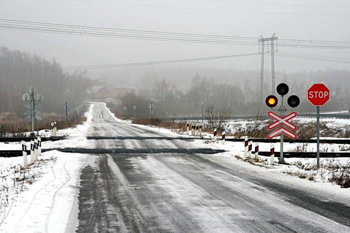 Железнодорожный переезд между Жуково и Какузево