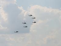 Пилотажная группа Беркуты на вертолетах МИ-28