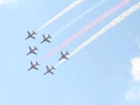 Пилотажная группа Красные стрелы из Великобритании