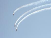 Пилотажная группа на яках в небе