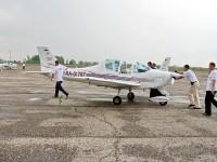 Самолет на перроне аэродрома  Мячково