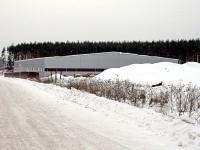 Новый ангар на подъезде к деревне Андреевское