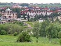 Вид на Белый берег с улицы Соловьиная Роща в Каменом Тяжино - июнь 2013