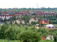 Вид на Белый берег с улицы Соловьиная Роща в Каменом Тяжино