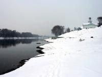 Москва-река возле ресторана у горнолыжных склонов