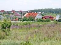 Вид с полей на Школьную улицу