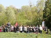 Сбор у памятника павшим в Нижнем Мячково