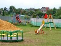 Новые элементы на детской площадке в Титово