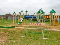 Обновленная детская площадка в Нижнем Мячково