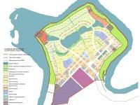 Cхема функционального зонирования инвестиционного комплекса национального центра авиастроения