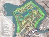 Эскиз проекта планировки первой очереди Национального центра авиастроения — инвестиционного комплекса  площадью 380 га - указан ТЦ