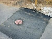 Переделанный участок возле люка газопровода