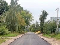 Заасфальтирована вторая половина Еганово - сентябрь 2012