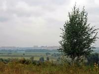Вид с холма на город Жуковский