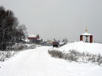 Въезд в Титово в декабре 2013 года