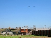 Самолеты над Титово, репетиция парада - май 2013