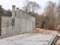 Подпорная стена у будущего храма