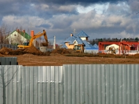 Вид на земляные работы в жилом комплексе Илья Муромец