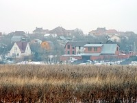 Вид от Володарского шоссе на Каменное Тяжино