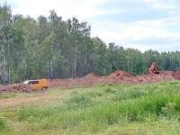 Незаконный песчанный карьер у трассы нефтепровода - май 2012