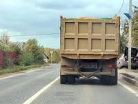 Вывоз песка по Володарскому шоссе - октябрь 2012