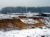 Песчаный карьер возле Чулково и Боровского кургана - зима 2012