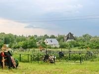 Вид с кладбища на деревню Еганово