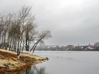 Будущий пляж на берегу озера
