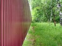 Забор вдоль Боровского Кургана - июнь 2013