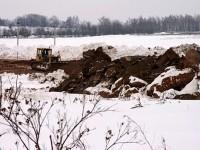 Февраль 2013 - начало земляных работ в Кутузовских Холмах