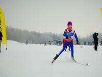 Лыжник на финише