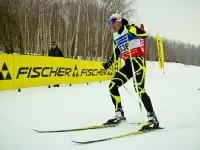 Взрослый забег на лыжной трассе Боровского Кургана