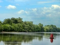Берег реки Москва напротив Нижнего Мячково