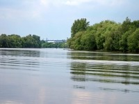 Река Москва у впадения Пахры