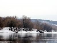 Берег Москва-реки в поселке Тельмана